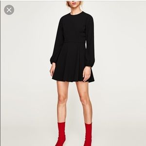 Zara Short Black Mini Dress NWT w/ Long Selves